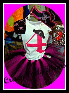 Pirate Princess birthday tutu set