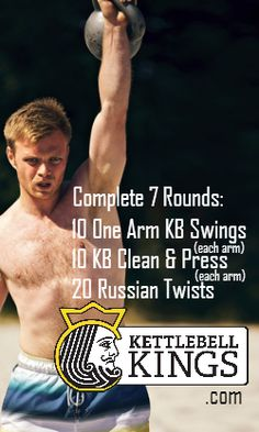 I'm going for 2-3 rounds! Not 7. Thanks. I'm a woman, and probably will start with my smallest kettlebell- 4 kg/ 9 lbs. Get your form right before you add weight.