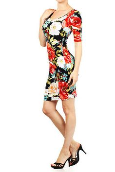 Camellia Floral Midi Dress - $31.30 at DressesHabitat.com - #DressesHabitat #FashionHabitat