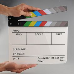 >> Click to Buy << TELESIN 9.6 * 11.7 inch Director Video Acrylic Clapboard Dry Erase TV Film Movie Clapper Board Slate with Color Sticks  #Affiliate