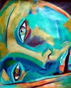 "Artist: Helena Wierzbicki; Acrylic 2012 Painting """"Doorway to the heart"" -SOLD"""
