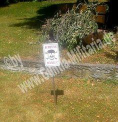 Schild Achtung Minen #schild #aluschild #warnschild #achtungminen / mehr Infos auf: www.Guntia-Militaria-Shop.de