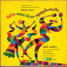 Howard Hanson, Eastman-Rochester Symphony Orchestra- Gould: Latin American Symphonette,Barber: Selections, label: Mercury MG 40002 (1953) Design: George Maas.