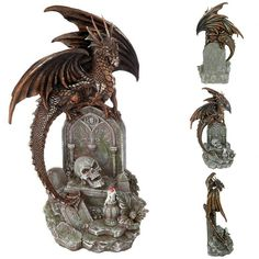 Each piece is individually hand-painted by their artisans. ORDER NOW! Medieval Gothic, Dragon Statue, Dungeons And Dragons, Gifts For Kids, Lion Sculpture, Victorian, Study, Gift Ideas, Ebay