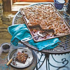 Texas Sheet Cake with Fudge Icing and Pecans