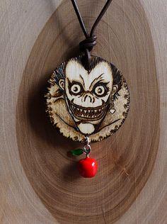 Death Note Ryuk Shinigami necklace by SomethingsBurningArt on Etsy