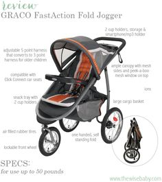Graco FastAction Jogger jogging stroller Review - a jogging stroller that is not only great for jogging but everyday use!