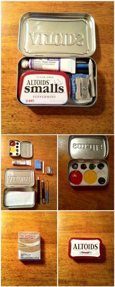 'Pocket-sized Watercolor Altoids Tin...!' (via Instructables.com) More