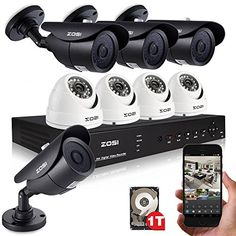 [special_offer]What are the features of ZOSI DVR CCTV Home Security Hi-Resolution Outdoor Color Surveillance Camera System HD Har October 20, July 11, Best Waterproof Camera, Dvr Cctv, Blow Up Beds, Wireless Home Security Cameras, Spy Camera, Cameras For Sale, Docking Station