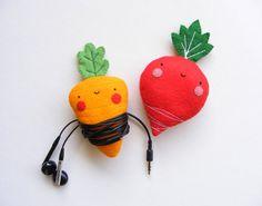 veggie earbud holder