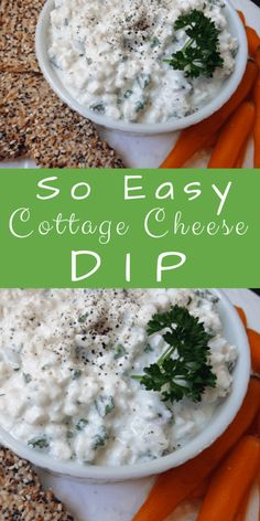 Easy Cottage Cheese Dip is a tasty way to cook with cottage cheese Cottage Cheese Recipes, Cheese Dip Recipes, Veggie Recipes, Cottage Recipe, Easy Recipes, Keto Recipes, Chicken Recipes, Vegetable Dips, Vegetable Side Dishes