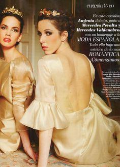 Mercedes Peralta y Mercedes Valdenebro en Hola Fashion con diademas de Rocio Porres para 24fab.com