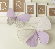 Nice butterfly decoration for a girl's room. Can probably make this yourself and save some $.