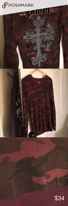 Sinful Shirt Long sleeve Sinful Love Pride shirt in maroon red burgundy  black gray camo camouflage e5a691d8864dc