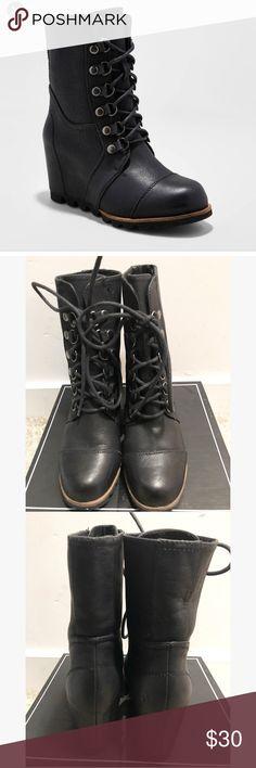 merona wedge booties
