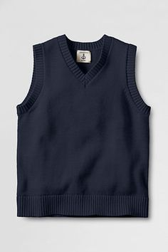 School Uniform Girls' V-neck Drifter Sweater Vest in Classic Navy