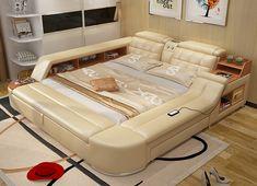 2017 moderne Schlafzimmer Möbel Massage Weiches Bett mit HIFI Lautsprecher Bluetooth schlafzimmermöbel bett