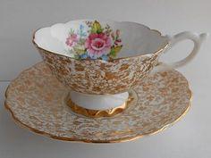 Taza De Té Y Plato En Porcelana Inglesa - Royal Stafford