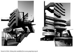 Anna: Miles Donovan (consider placing images fragmented of buildings and then illustrating over the top) A Level Photography, Building Photography, Dark Photography, Artistic Photography, Landscape Photography, Architecture Graphics, Architecture Art, Data Visualization Techniques, Bauhaus