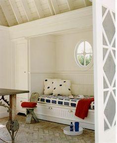 Pool house interior of a Hamptons home