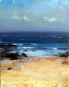 Ken Knight does an amazing job of capturing that spacious sense of ocean and sea #abstractart