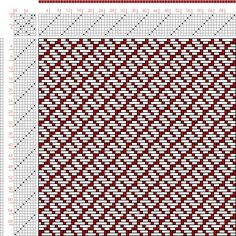 Hand Weaving Draft: Page 182, Figure 7, Donat, Franz Large Book of Textile Patterns, 8S, 8T Max float 4 - Handweaving.net Hand Weaving and Draft Archive...
