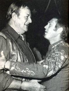 Steve McQueen and John Wayne
