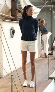 A little nautical cute for late summer. #casual wear. #spring & fall. via #thedailystyle  for e