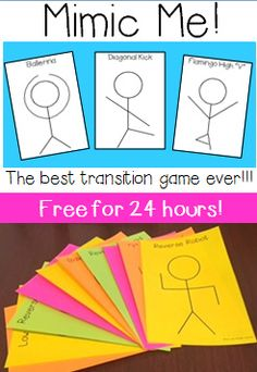 Follower FREEBIE for 24 hours! This is an ALL TIME favorite transition game in our class! Erin Lane :-)