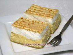 Kókuszos túrós desszert • Recept   szakacsreceptek.hu European Cuisine, Tiramisu, Rum, Cheesecake, Food And Drink, Cooking Recipes, Sweets, Bread, Breakfast