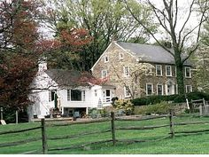 Stone Farmhouse on 50 acre horse farm with Amish neighbors, 2 Fireplaces & POOL