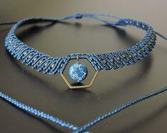 Macrame collar micro Macrame joyas / hecho a por CTheSoulOfMoon