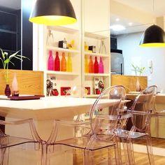 Sala de jantar com pendente