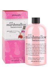 philosophy 'pink marshmallow' shampoo, shower gel & bubble bath (Limited Edition) available at Philosophy Shower Gel, Philosophy Products, Marshmallow Buttercream, Pink Marshmallows, Perfume, Nordstrom, Tips Belleza, Body Spray, Smell Good
