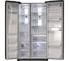 Buy SAMSUNG RSG5UUMH American-Style Fridge Freezer - Manhattan Silver | Free Delivery | Currys