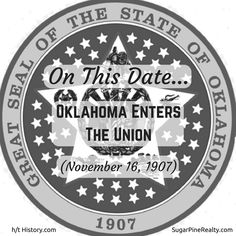 On This Date: Oklahoma Enters The Union (November On This Date, Oklahoma, November, Dating, Twitter, November Born, Quotes