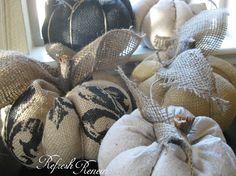 Refresh - Renew: Fall Project-Burlap Pumpkin Tutorial