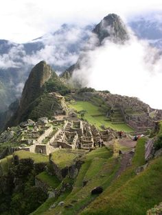 The Lost City of Machu Picchu in Peru is believed to have been established between 4000BC-1500AD and built by Inca and pre-Inca civilizations. It stands 2,430 m above sea-level, in the middle of a tropical mountain forest and takes some climbing dedication to get there. Have you made the trek?
