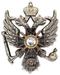 Знак 115-го пехотного Вяземского (с 1913 г. - генерала Несветаева) полка.  С.-Петербург, 1912-1917 гг.