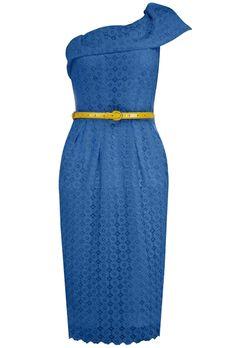 Fifties Blue Lace Cocktail Dress