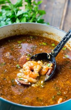 This delightful Seafood Gumbo is full of shrimp and crab and it has a nice spicy kick. There's nothing like a warm bowl of gumbo, and I especially like a seafood gumbo. Creole Recipes, Cajun Recipes, Fish Recipes, Seafood Recipes, Soup Recipes, Cooking Recipes, Healthy Recipes, Haitian Recipes, Shrimp Gumbo Recipes