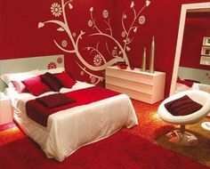 Cool Bedrooms For Age S Red Room Ideas A Beautiful Flowers Wall Murals Stickers Agers Bedroom