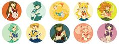 .sailor moon buttons by ~iamacoyfish on deviantART