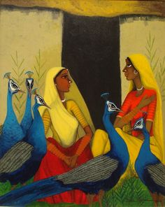 Gallery Artchill – An Ultimate Indian Modern & Contemporary Art Destination Gallery Artchill – An Ultimate Indian Modern & Contemporary Rajasthani Painting, Rajasthani Art, Indian Art Paintings, Modern Art Paintings, Indian Artwork, Abstract Paintings, Oil Paintings, Landscape Paintings, Books Art