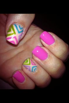 Pink with triangle Aztec