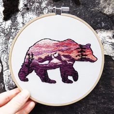 I've teamed up with another super talented Canadian embroidery artist @thread_counted for a special Canada 150 project! 8 embroideries highlighting the beauty and diversity of Canada's wilderness.