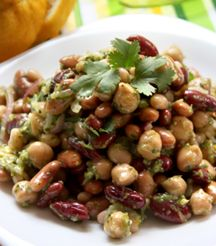 Light & Fresh Mixed Bean Salad for a light meal. Bean Salad, Best Places To Eat, House And Home Magazine, Light Recipes, Restaurant Bar, Main Dishes, Beans, Soup, Fresh