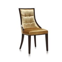 An elegant addition to your living room or parlor, this velvet accent chair showcases gold-hued upholstery and splayed back legs.Prod...