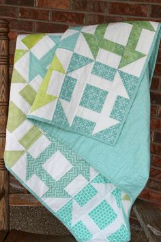 Churn Dash Modern Lap Quilt-inspiration only