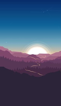 #Wallpaper #iphone #android #background #followme #takip #takipet #arkaplan #duvarkağıdı #illustration Scenery Wallpaper, Landscape Wallpaper, Nature Wallpaper, Landscape Art, Wallpaper Backgrounds, Iphone Wallpaper, Illustration Wallpaper, Digital Illustration, Minimal Wallpaper